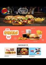 Prospectus Burger King : Menus Burger King