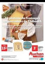 Prospectus Auchan Supermarché : Le plateau de fromage responsable de Thibault