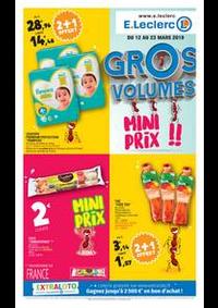 Prospectus E.Leclerc VITRY SUR SEINE : Gros volumes mini prix !!