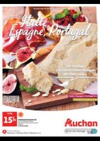 Prospectus Auchan Mulhouse : Italie, Espagne, Portugal. Un voyage culinaire, sans bouger de chez vous.