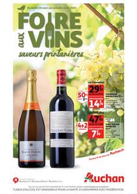 Prospectus Auchan ISSY LES MOULINEAUX : Foire aux vins, saveurs printanières