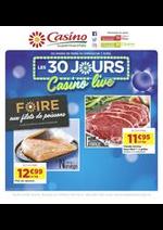 Prospectus Supermarchés Casino : Les 30 jours Casino live