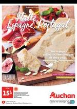 Prospectus Auchan drive : Italie, Espagne, Portugal. Un voyage culinaire, sans bouger de chez vous.