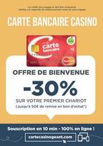 Promos et remises  : Carte Bancaire Casino