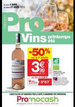 Promos et remises  : Sélection Pro Vins printemps/été du jeudi 4 au samedi 27 avril 2019