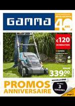 Prospectus GAMMA : Promo Anniversaire