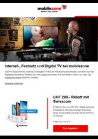 Prospectus Mobilezone : Internet-, Festnetz und Digital TV bei mobilezone