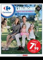 Prospectus Carrefour : Collection textile lin et cérémonie