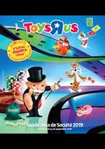 Prospectus Toys R Us : Guide Jeux de Société 2019