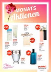 Promos et remises Import Parfumerie Bern - 24 Marktgasse : Monats Aktionen