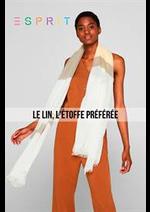 Prospectus Esprit : Le Lin, L'étoffe Préférée