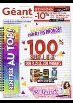 Promos et remises  : Catalogue Géant Casino