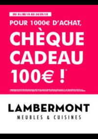 Bons Plans Meubles Lambermont  : Chèques Cadeau de 100€