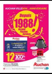 Prospectus Auchan VILLEBON SUR YVETTE : Auchan Villebon...anniversaire