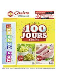 Prospectus Supermarchés Casino PARIS 352 RUE LECOURBE : Les 100 jours Casino
