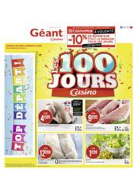 Prospectus Géant Casino SAINT MICHEL SUR ORGE : Les 100 jours Casino