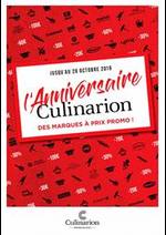 Promos et remises  : L'Anniversaire Culinarion