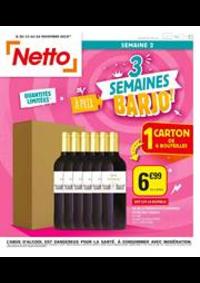 Prospectus Netto Mennecy : 3 semaines À prix barjo!