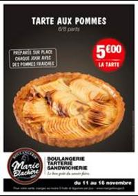 Prospectus Marie Blachère Argenteuil : Tarte aux pommes