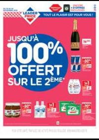 Prospectus Leader Price Le Blanc-Mesnil : Jusqu'à 100% offert sur le 2ème