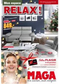 Prospectus Maga Meubles Héricourt : Mon espace Relax!