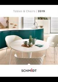 Prospectus Cuisines Schmidt NANINNE  : Tables et Chaises Tafels en stoelen 2019