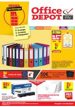 Prospectus Office DEPOT : Le mois de l'ARCHIVAGE!