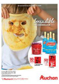 Prospectus Auchan Val d'Europe Marne-la-Vallée : Irrésistible Chandeleur