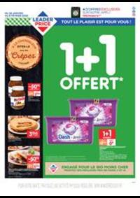 Promos et remises Leader Price Le Havre : 1+1 Offert
