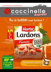 Prospectus Coccinelle Express PARIS : Pas de tartiflette sans lardons!