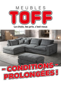 Promos et remises Meubles Toff : Conditions prolongées !