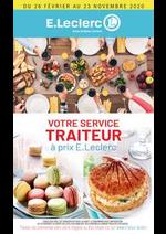 Prospectus E.Leclerc : VOTRE SERVICE TRAITEUR à prix E.Leclerc