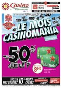 Prospectus Supermarchés Casino TOULON Av. De Lattre De Tassigny : Le mois Casinomania