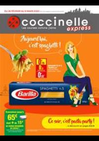 Prospectus Coccinelle Express ECOUEN : Aujourd'hui c'est spaghetti!