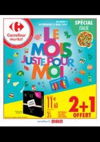 Prospectus Carrefour Market VALENTON : Le mois juste pour moi spécial Italie