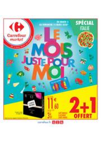 Prospectus Carrefour Market MASSY : Le mois juste pour moi spécial Italie