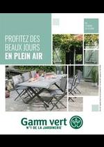Prospectus Gamm vert : Nouveau catalogue Plein air
