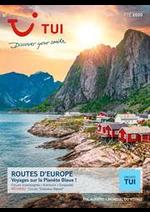 Tarifs TUI : Routes d'Europe Été 2020