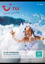 Bons Plans TUI : Brochure TUI Club Marmara Été 2020