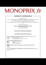 Services et infos pratiques Monoprix : Dispositif Coronavirus
