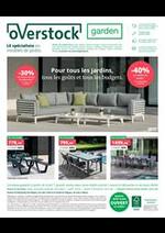 Prospectus Overstock Garden : Specialiste en meubles de jardin