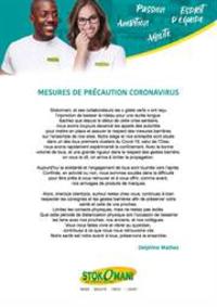 Services et infos pratiques Stokomani Saint-Grégoire : Mesures de précaution Coronavirus