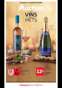Prospectus Auchan Val d'Europe Marne-la-Vallée : Auchan des vins et des mets