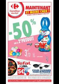 Prospectus Carrefour Market Rennes Bourg l'Evêque rue de Brest : Maintenant et moins cher !
