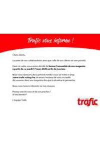 Prospectus Trafic Andenne : Horaires exceptionnels