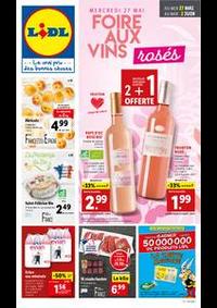 Prospectus Lidl VILLERS LE LAC : Foire aux vins rosés