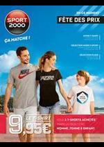 Prospectus Sport 2000 : Fête des prix