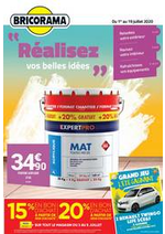 Promos et remises Bricorama : Catalogue Bricorama