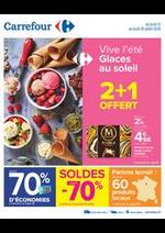 Promos et remises Carrefour : Vive l'été - Glaces au soleil
