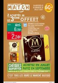 Prospectus Supermarchés Match Villeneuve D'Ascq Cousinerie : 2 achetés = le 3ème offert